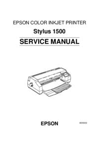 Manual de servicio Epson Stylus 1500