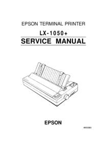Руководство по техническому обслуживанию Epson LX-1050+