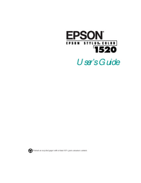 Manual del usuario Epson Stylus Color 1520