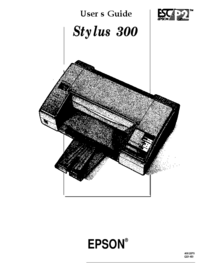 Manuel de l'utilisateur Epson Stylus 300