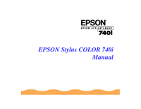 User Manual Epson Stylus Color 740i