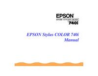 Instrukcja obsługi Epson Stylus Color 740i