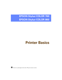 User Manual Epson Stylus COLOR 860