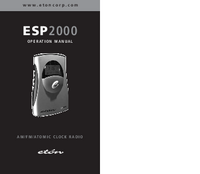 User Manual Eton ESP2000