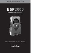 Bedienungsanleitung Eton ESP2000