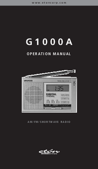 Manual del usuario Eton G1000A