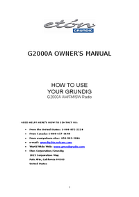 Manual del usuario Eton G2000A