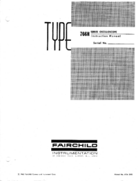 Service and User Manual Fairchild 765H/F