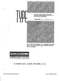 Serwis i User Manual Fairchild 79-02A