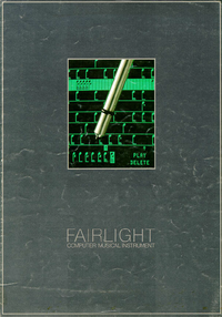 Service and User Manual Fairlight CMI Model IIx