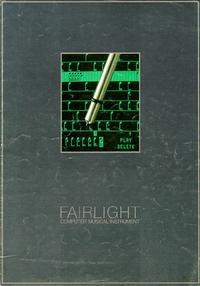 Service et Manuel de l'utilisateur Fairlight CMI Model IIx