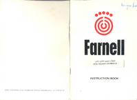 Service and User Manual Farnell LF1