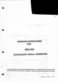 Service and User Manual Farnell SSG 520