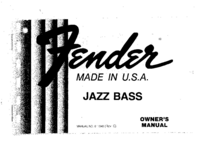 User Manual Fender Jazz Bass