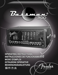 User Manual Fender Bassmann 300