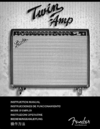 Manual del usuario Fender Twin-Amp
