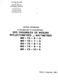 Service- und Bedienungsanleitung Ferisol MR - TX - 8 - A
