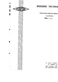Servicio y Manual del usuario Ferisol HAF 6000 B