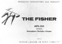 Bedienungsanleitung Fisher MPX-200