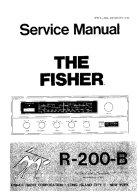 manuel de réparation Fisher R-200 B