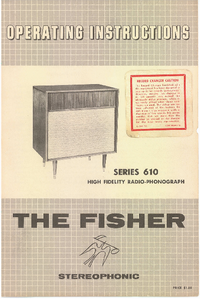 User Manual Fisher SERIES 610