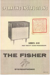 Руководство пользователя Fisher SERIES 610