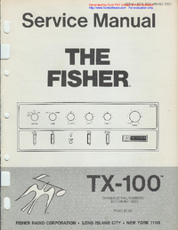 Service Manual Fisher TX-100