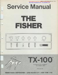 Instrukcja serwisowa Fisher TX-100