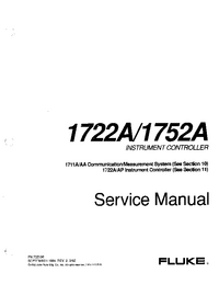 Manual de servicio Fluke 1711AA