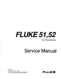 Руководство по техническому обслуживанию Fluke 51