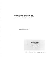 Serviço e Manual do Usuário Fluke 885AB