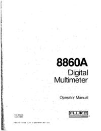 Manual do Usuário Fluke 8860A