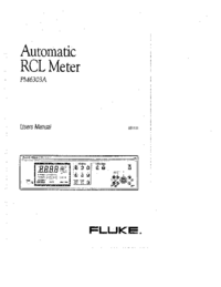 Manual del usuario Fluke PM6303A