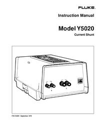Servicio y Manual del usuario Fluke Y5020