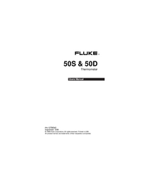 Manual del usuario Fluke 50S