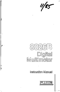 Service-en gebruikershandleiding Fluke 8026B