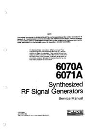 Manuale di servizio Fluke 6070A