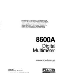 Serviceanleitung Fluke 8600A