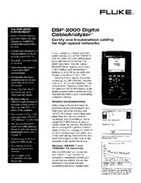 folha de dados Fluke DSP-2000