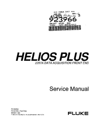 Service Manual Fluke Helios Plus