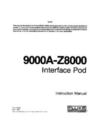 Serwis i User Manual Fluke 9000A-Z8000