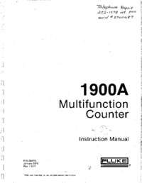 User Manual with schematics Fluke 1900A