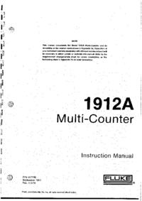 Instrukcja obsługi, Cirquit diagramu Fluke 1912A