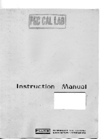 User Manual with schematics Fluke 407