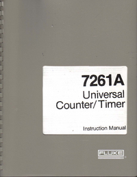 User Manual Fluke 7261A