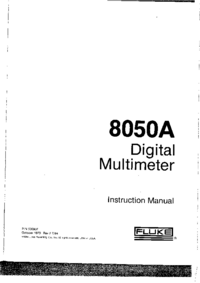 User Manual with schematics Fluke 8050A