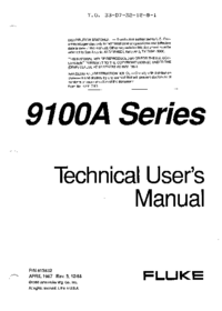 User Manual Fluke 9100A