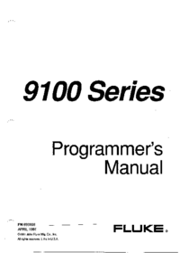 User Manual Fluke 9100FT