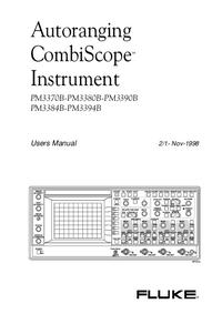 Manual do Usuário Fluke PM3394B