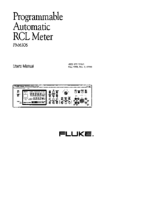 User Manual Fluke PM6306